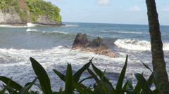 4K Ocean Waves And Rocks 08 - stock footage