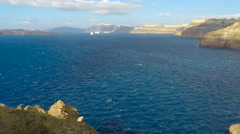 caldera view on santorini island in 4k - stock footage
