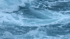 Powerful Sea Water Storm Surge - 29,97FPS NTSC Stock Footage
