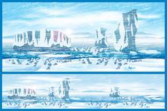 Stock Illustration of Arctic blizzard