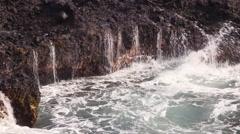 4K Ocean Waves And Rocks 13 Stock Footage