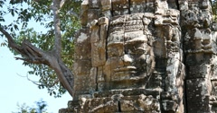 Cambodia Angkor Wat temple ancient ruin complex Ta Som Stock Footage