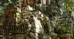 Cambodia Angkor Wat temple ancient ruin complex Ta Som - stock footage