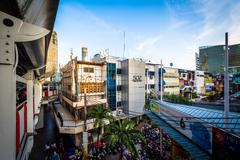 View of buildings at Siam Square, in Bangkok, Thailand. - stock photo