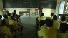 PAKRO TEACHER TEACHES CLASS Stock Footage