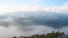 Mountain and mist in Thailand Stock Footage
