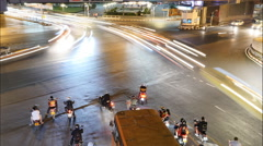 Traffic during the night in Bangkok,Thailand. Stock Footage