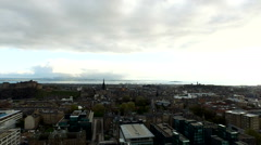 Aerial shot of Quartermile from the Meadows in Edinburgh Stock Footage