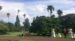 Stock Video Footage of Visitors in Albert park in Auckland New Zealand