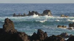 4K Ocean Waves And Rocks 21 - stock footage