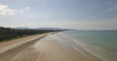 Aerial/Drone shot revealing a beach in Khao Lak, Thailand Stock Footage
