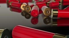 Messy Shotgun Shells Stock Footage