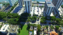 Americas Brickell aerial video Stock Footage