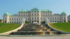 Belvedere palace, vienna, austria, 4k Stock Footage