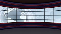 Stock Video Footage of News TV Studio Set 100 - Virtual Green Screen Background Loop