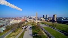 Single missile / meteor over Kansas City Missouri Stock Footage