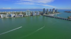 Drone Miami Beach aerial video Stock Footage