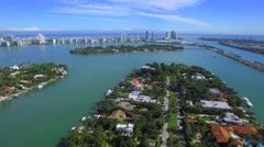 Famous Star Island aerial video Stock Footage