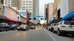 Flagler Street Olympia Downtown Miami Stock Footage