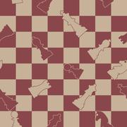 Seamless background of chess, vector illustration. Stock Illustration