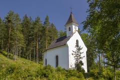 Dietl Chapel Hinterstoder Totes Gebirge Upper Austria Austria Europe - stock photo