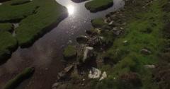 Stunning aerial shot of the Rodel Saltmarsh on the Isle of Harris, Scotland Stock Footage
