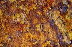 Rusted metal surface - stock photo