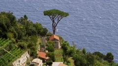 Stock Video Footage of Village Farmhouse Amalfi Coast Italy 4K Stock Video Footage