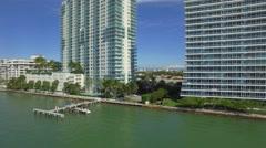 Miami Beach aerial video Stock Footage