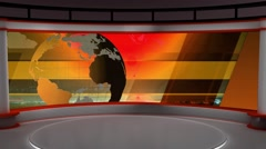 Stock Video Footage of News TV Studio Set 104 - Virtual Green Screen Background Loop