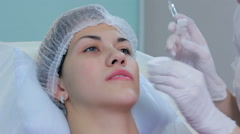 Lip injection plastic surgery  Stock Footage