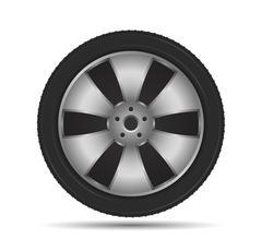 Car Wheel - stock illustration