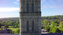 Salisbury Cathedral: Up Spire Stock Footage