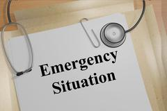 Emergency Situation concept Stock Illustration