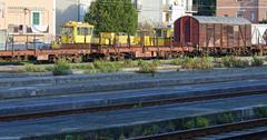 detal of train - stock photo
