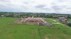 Flight over kindergarten in Krasnodar region Stock Footage