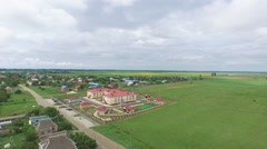 Flight over kindergarten in Krasnodar region Stock Footage