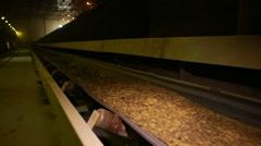 Clay on conveyor on brickyard in Krasnodar region Stock Footage