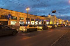 VLADIMIR, RUSSIA -November 05.2015.  Shopping Arcade in the Bolshaya Moskovskaya Stock Photos