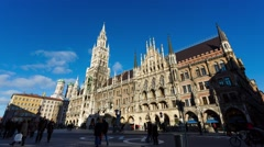 The City Hall in Munich Stock Footage