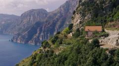 Amalfi Coastline Italy 4K Stock Video Footage Stock Footage