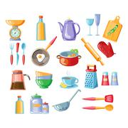 Kitchen Tools Vector Illustration Stock Illustration