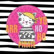 T-shirt girl design - stock illustration