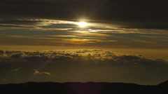 4K Sunset Clouds 01 Stock Footage