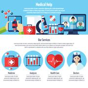 Medical Web Site - stock illustration