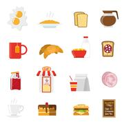 Stock Illustration of Breakfast Icons Set
