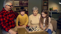 Naughty Little Chess Players Stock Footage