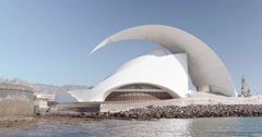 Auditorio De Tenerife (High Quality Shot) Stock Footage