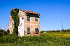 Stock Photo of Abandoned House Exterior
