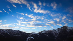 Snowy Mountains Time-Lapse Stock Footage